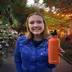 orange hydro flask water bottle double wall 24oz ounce 25 oz bite valve themoses insulated coffee