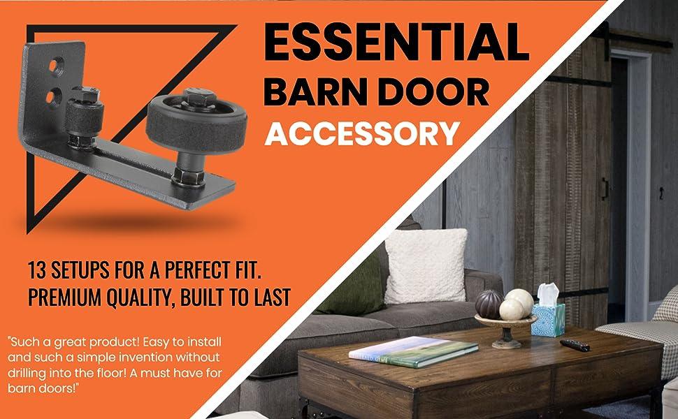 13 setup essential barn door accessory barn door floor guides bottom wall mount  roller guide