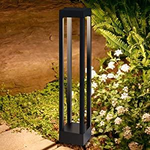Farolas jardin exterior|balizas exterior jardin 9W 3000K blanco ...