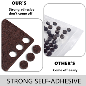 Felt plate Fort self adhesive-pads a1 a2 a3 a4 a5 a6-felt 2 3 6