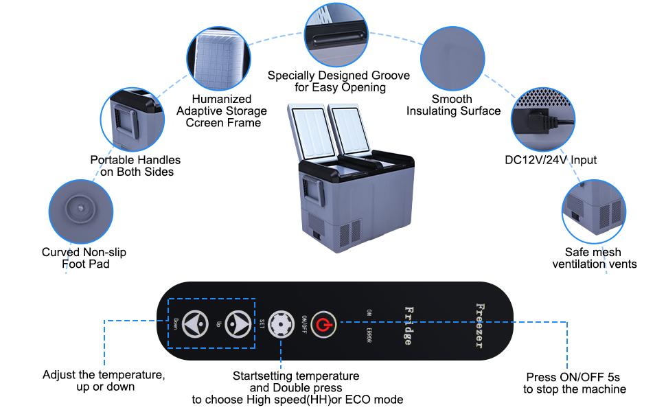 details of car refrigerator