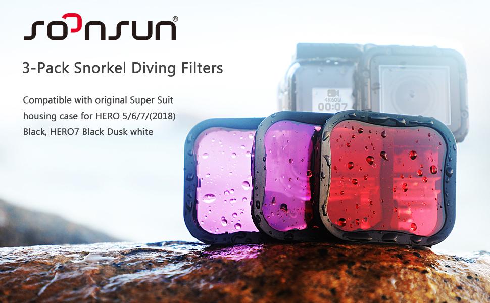 Magenta Lens Filter Case Dive Underwater Scuba for GOPRO Standard Housing