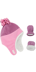 baby girl hat mittens