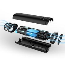 Pompe /à v/élo Portable 260 PSI Pompes /à v/élo avec kit de r/éparation et dassemblage Compatible avec Presta et Schrade Vemingo Mini Pompe /à v/élo gonflage Rapide des pneus