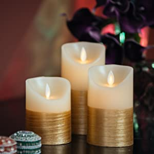 gold bedroom candles