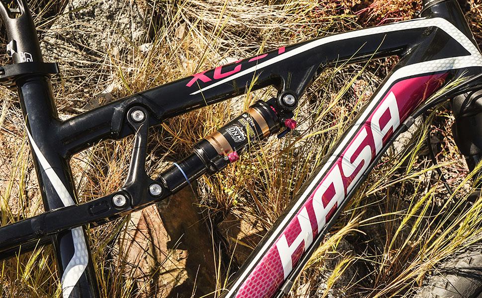DNM Damping 3 System Mountain Bike Air Rear Shock Rebound/Lock Out/Air Pressure Adjustable AL 7005 Shark/AL 6061 Shock Body 165mm (6.5