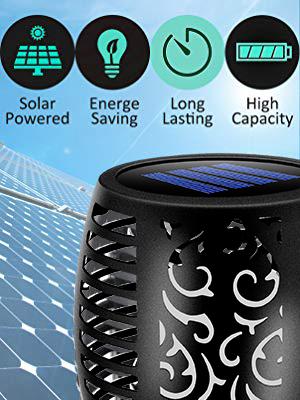 Solar-Powered Flames Lights
