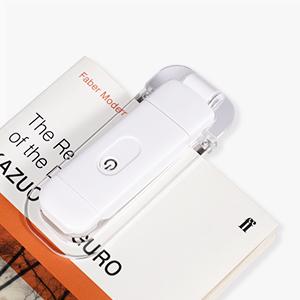 4 niveles de brillo ajustables recargable regalo para ni/ños y lombrices color /ámbar bloqueo de luz azul para leer en la cama DEWENWILS L/ámpara de lectura con pinza para libro