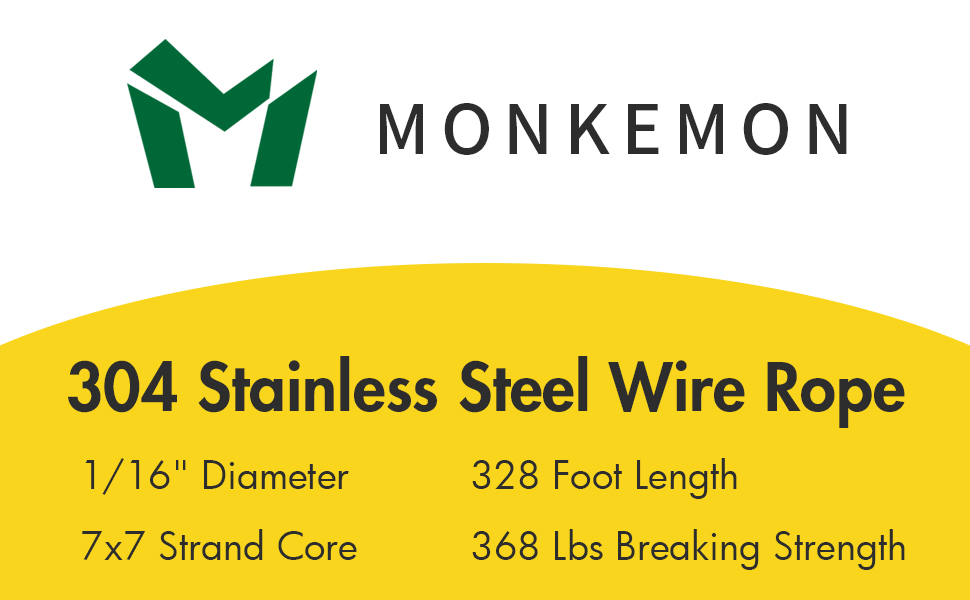 1/16 Wire Rope, Stainless Steel Cable, Aircraft Cable, steel wire rope