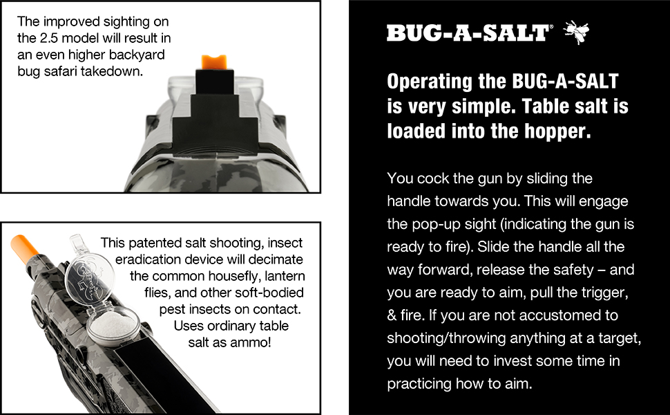 Bug-A-Salt Operating Instructions