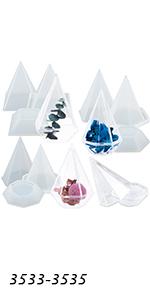 Pyramid Storage Box Molds Set