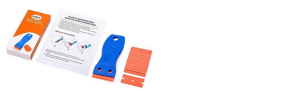 plastic razor blade scraper,Decal remover,glue remover,sticker remover,decal remover,label remover