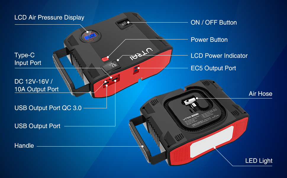 4 in 1 protable jump starter for can
