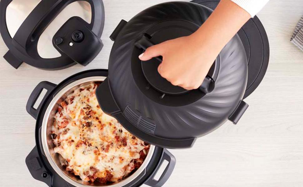 Instant Pot Freidora Duo Crisp + Air Fryer 8L Multicocina. 11 Funciones en 1: Olla a presión, sartén, vaporera, Olla de cocción Lenta