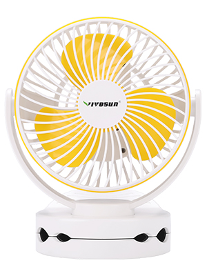 VIVOSUN 6700mAh USB Powered Clip Fan with Hanging Hook 4 Speeds 2 Level Light for Camp Baby Stroller Gym Home Office