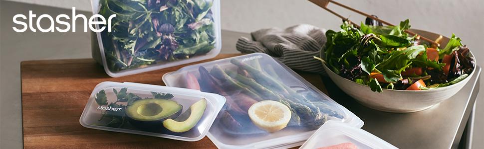 Zip zak siliconen zak herbruikbare vrieszak Stasher Bag Ziplock zak voedsel