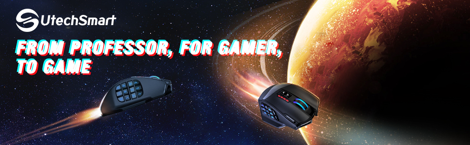 WIRELESS MMO RGB GAMING MOUSE