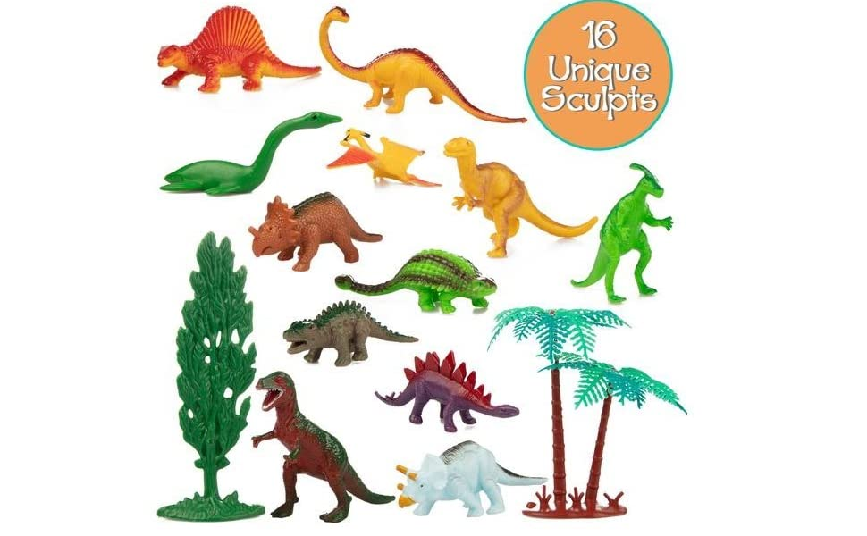 16Pcs//set kids dinosaur toy 6cm pvc action figure toys learning for toddlers ed