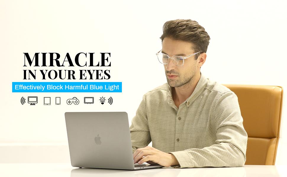 men glasses for computer eye strain headache laptop screen blue ray blocking filter eyeglass retro