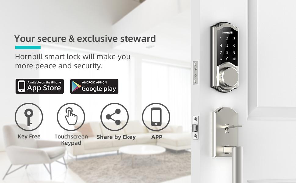Smart Deadbolt Lock Front Door