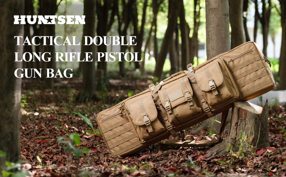 huntsen gun case gun bag double soft rifle case 42inch 36inch for ar15 scoped rifles shotgun