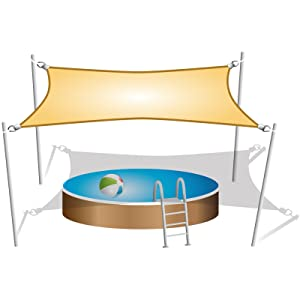 sunprotect 83282 Professional Sonnensegel wi 90° Grad Dreieck 3,6 x 3,6 x 5 m