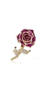 Purple Blue Rose Brooch accessories jewelry