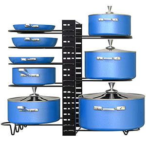 pan organizer rack for cabinet