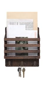 Estante de Almacenamiento Ocobudbxw Llaves montadas en la Pared Soporte para suspensi/ón 4 Ganchos Organizador de Cartas decoraci/ón Correo