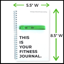 perfect size 5.5 x 8.5 notebooks fitness journal