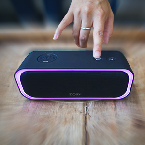DOSS Soundbox Pro  Bluetooth Speakers, DOSS SoundBox Pro Portable Wireless Bluetooth Speaker with 20W Stereo Sound, Active Extra Bass, Wireless Stereo Pairing, Multiple Colors Lights, IPX5, 20 Hrs Battery Life -Black 6e55aa66 ec9b 4570 8653 c830d1d23964