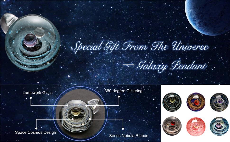 Universe Galaxy Space necklace
