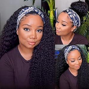 headband wig for women