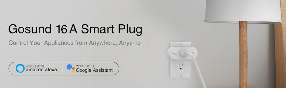 gosund smart plug 16a works with alexa google home