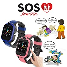 SOS help watch one button for help watches Kids SOS watch 4G net cell phone wifi connect watch gifts