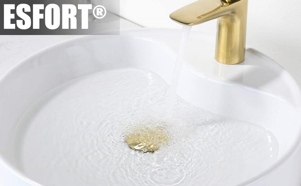 sink stopper brushed gold