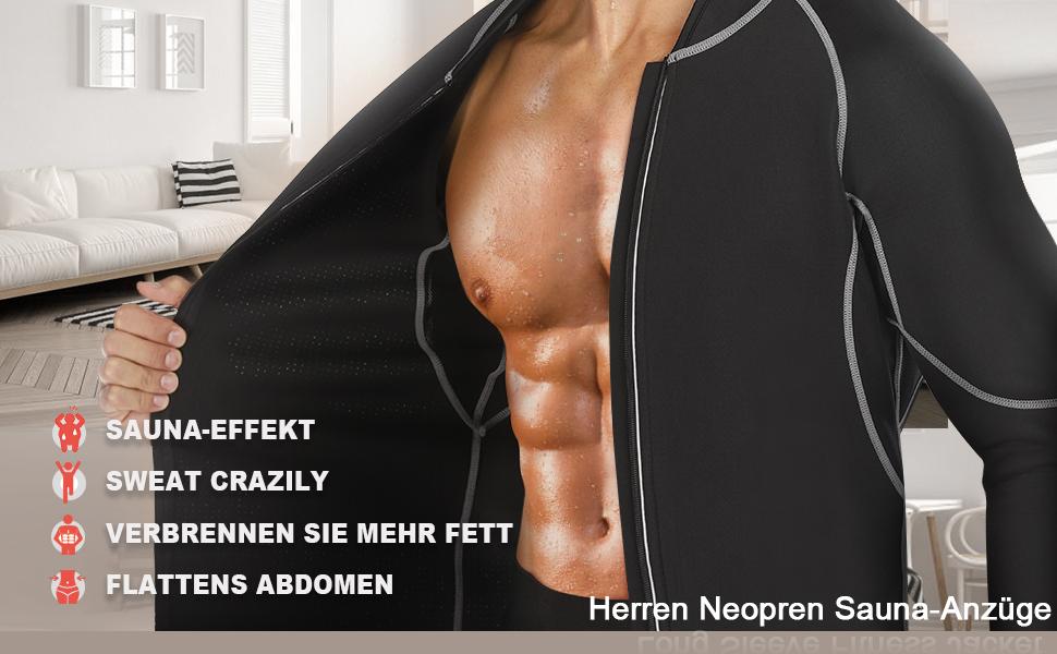 Herren Fitness Thermo Shapewear Hohe Kompression Trainingsoberteile Sportbekleidung Körperformer