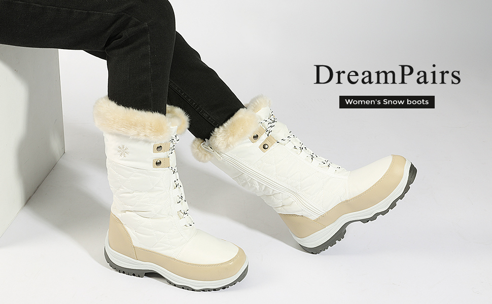 FUAX FUR WOMEN SNOW BOOTS