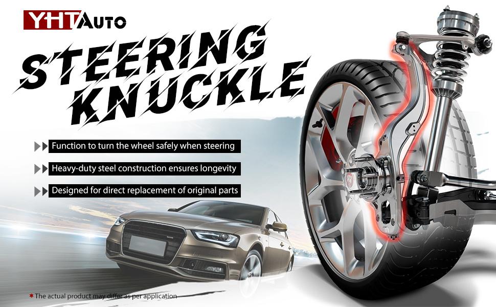 Set of 2 Front Steering Knuckle Compatible with Chevrolet Silverado 1500 Tahoe GMC Sierra Yukon Cadillac Escalade