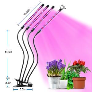 Rose USB GAOAG Lampe /à LED pour Plantes,80 LEDs d/éveloppent Un Spectre Complet de lumi/ère avec minuterie de Mise en Marche et darr/êt Automatique 3//9 // 12H Rouge et Bleu Adaptateur Secteur
