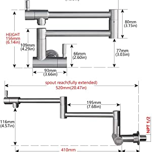 pot filler faucet wall mounted