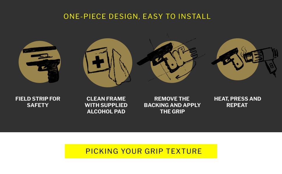 One-piece design, easy to install. Strip for safety, clean, remove backing, heat and press, simple