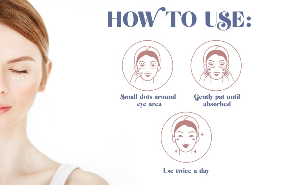 how to use, eye cream
