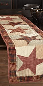 Abilene Star Runner primitive country rustic Americana VHC Brands kitchen tabletop quilted star