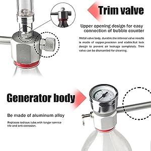 Válvula de corte y cuerpo del generador