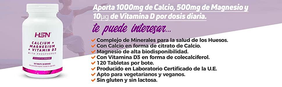 Calcio y Vitamina D3 de HSN Essentials | Formas de Citrato ...