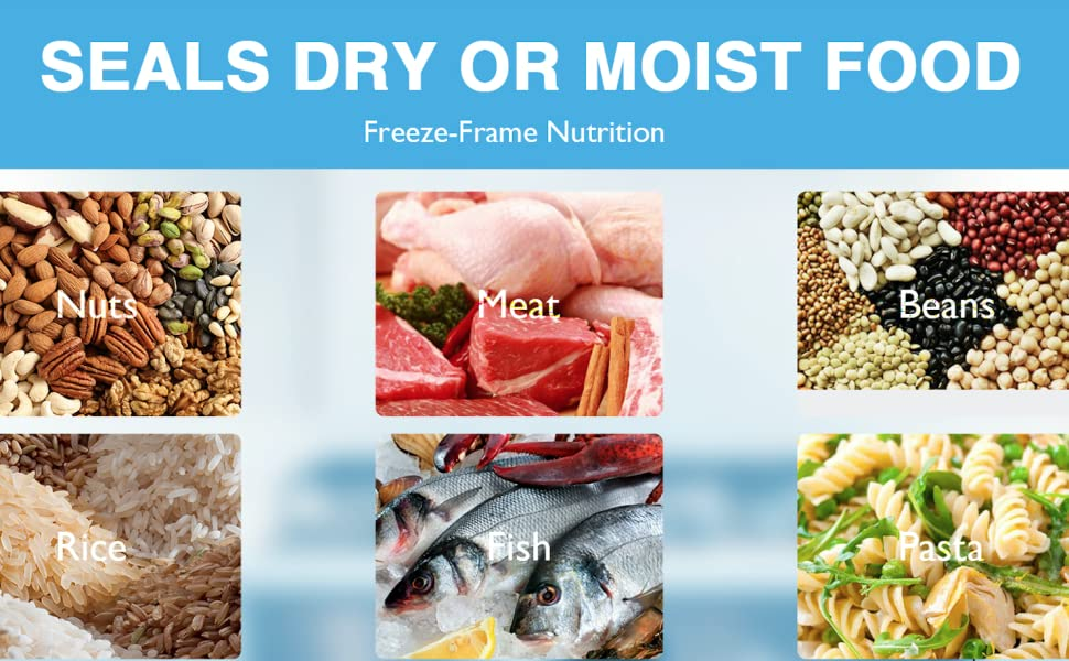 Kneysan Vacuum Sealer Machine Can Seal  Dry & Moist Food