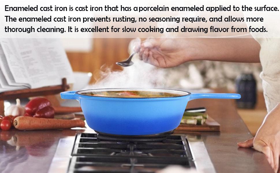 enameled cast iron