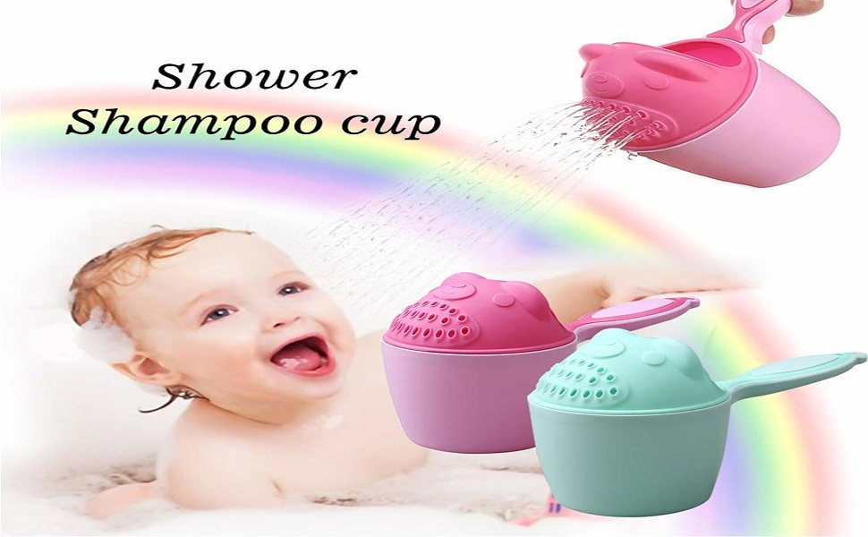 SYGA Plastic Baby Shampoo Cup Baby Shower Water Scoop Children Water Scorpion Baby Bath Tumbler(Green)