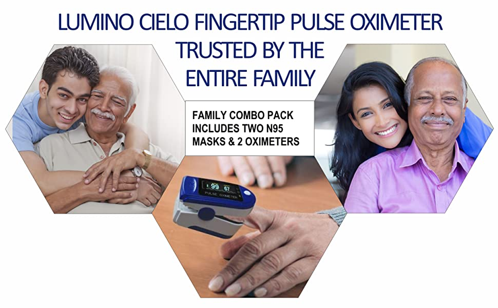 Oximeter that measures oxygen level in your blood for entire family
